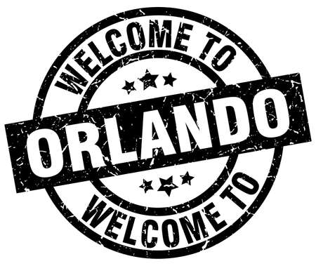 Welcome to Orlando black stamp.