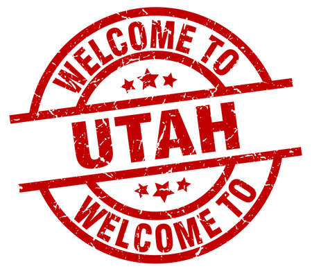 Welcome to Utah red stamp.