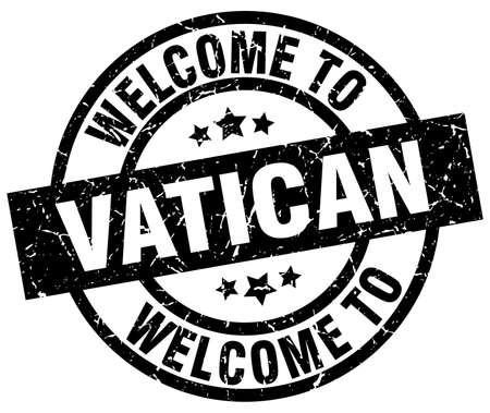 バチカン市国の黒切手へようこそ。  イラスト・ベクター素材