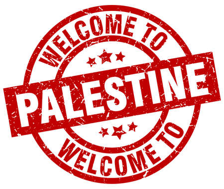 Welcome to Palestine red stamp.