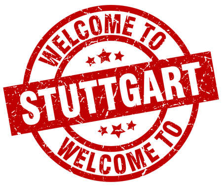 stuttgart: Welcome to Stuttgart red stamp. Illustration
