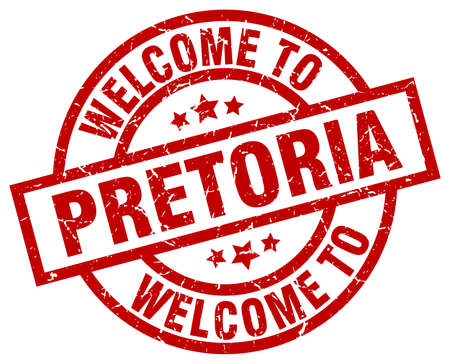 Welcome to Pretoria red stamp.