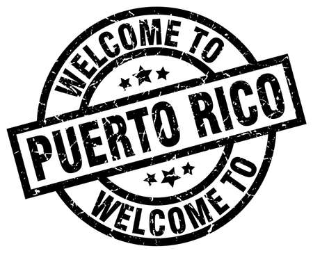 welcome to Puerto Rico black stamp