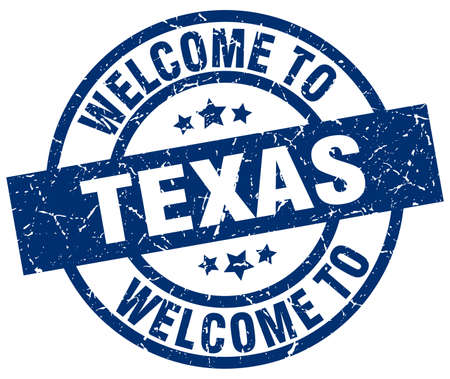 welcome to Texas blue stamp