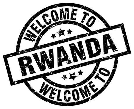 welcome to Rwanda black stamp