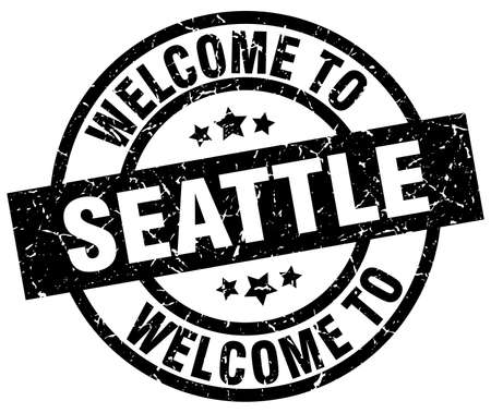 welcome to Seattle black stamp