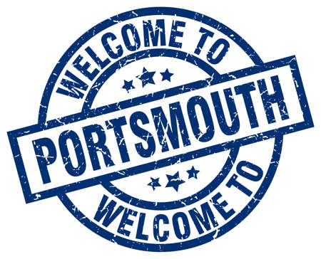 welcome to Portsmouth blue stamp Illustration