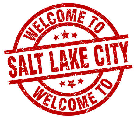 welcome to Salt Lake City red stamp Illustration