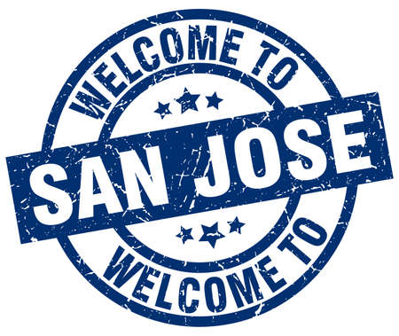 welcome to San Jose blue stamp