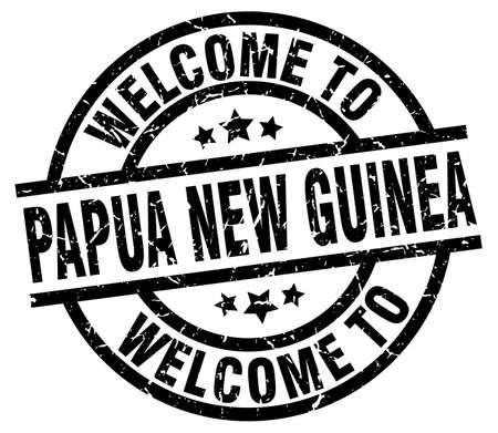 bienvenue à papouasie-nouvelle-guinée timbre national Vecteurs