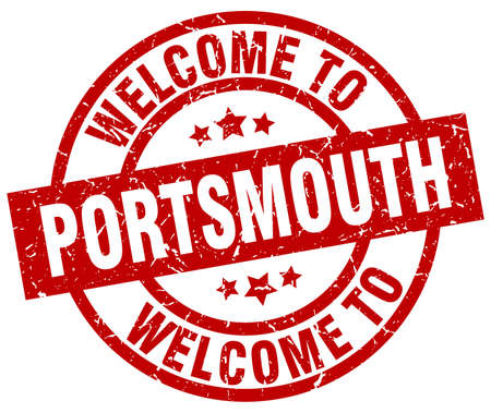 welcome to Portsmouth red stamp