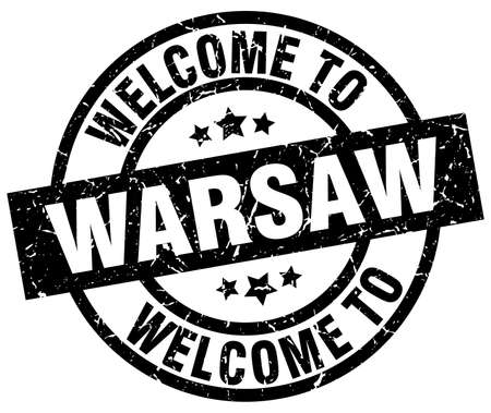 welcome to Warsaw black stamp