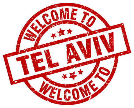welcome to Tel Aviv red stamp