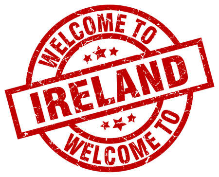 welkom in Ierland rode stempel