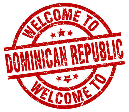 Welcome to Dominican Republic red stamp Ilustracja