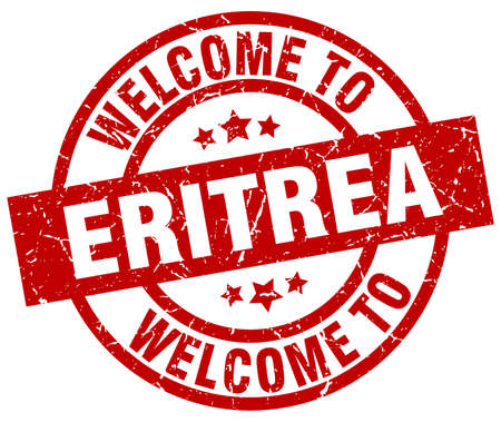 eritrea: welcome to Eritrea red stamp