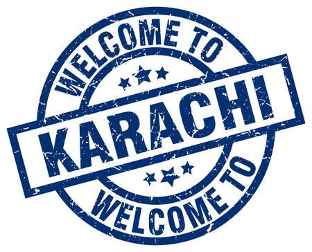 Welcome to Karachi blue stamp.