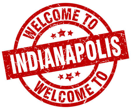 welcome to Indianapolis red stamp Illustration