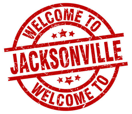 jacksonville: welcome to Jacksonville red stamp