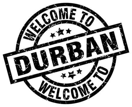 Welcome to Durban black stamp.