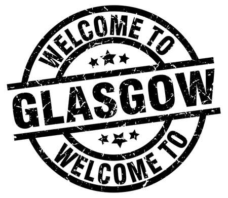 Welcome to Glasgow black stamp.