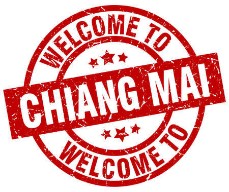 A welcome to Chiang mai red stamp. Иллюстрация
