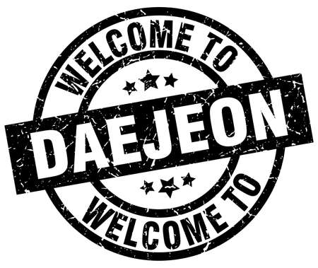 Welcome to Daejeon black stamp.