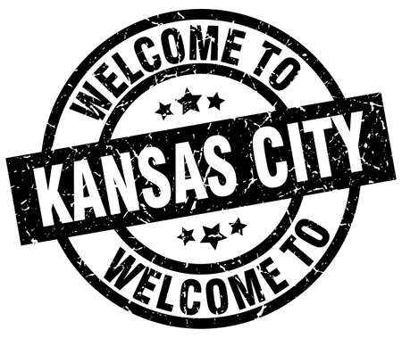 kansas: welcome to Kansas City black stamp