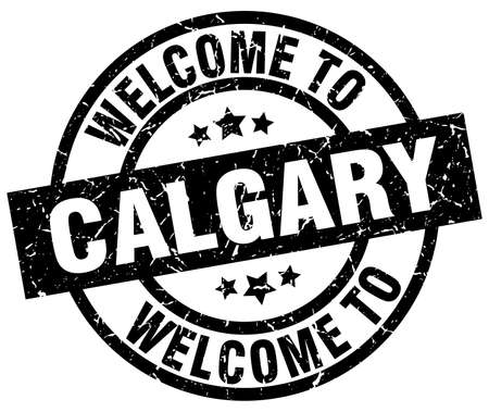calgary: welcome to Calgary black stamp