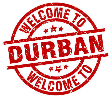 welcome to Durban red stamp