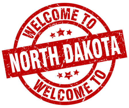 Welcome to North Dakota red stamp
