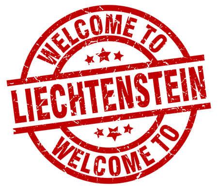 welcome to Liechtenstein red stamp Illustration