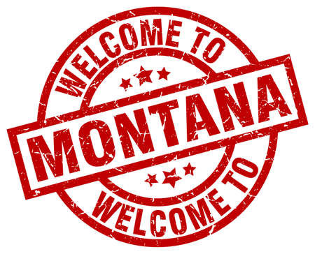 welcome to Montana red stamp