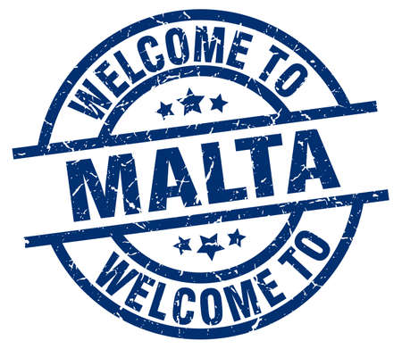 welcome to Malta blue stamp