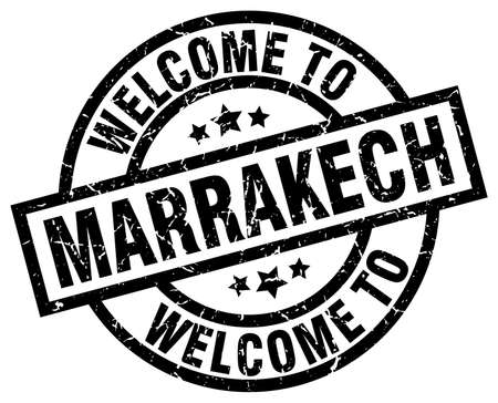 welcome to Marrakech black stamp