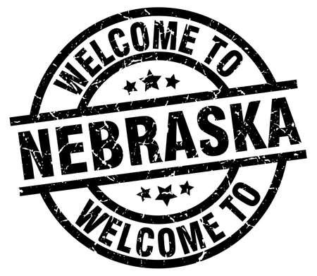 nebraska: welcome to Nebraska black stamp