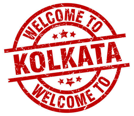 A welcome to Kolkata red stamp.