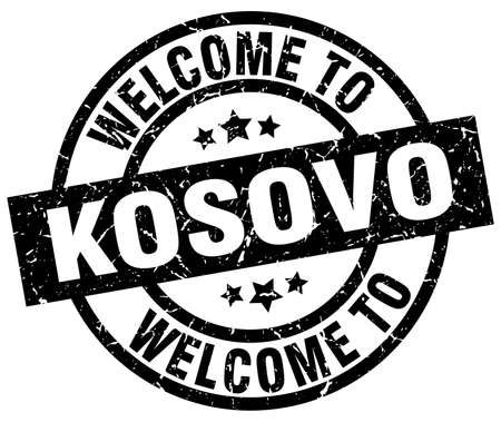 welcome to Kosovo black stamp