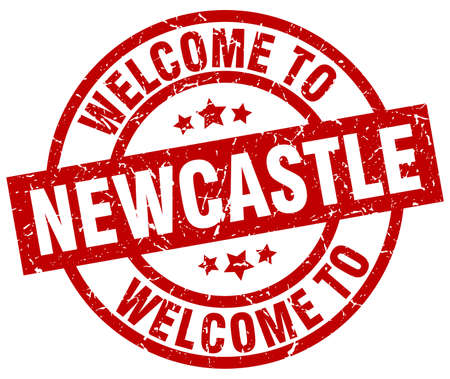 welcome to Newcastle red stamp