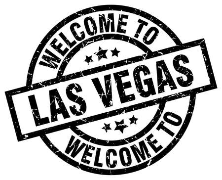 welcome to Las Vegas black stamp