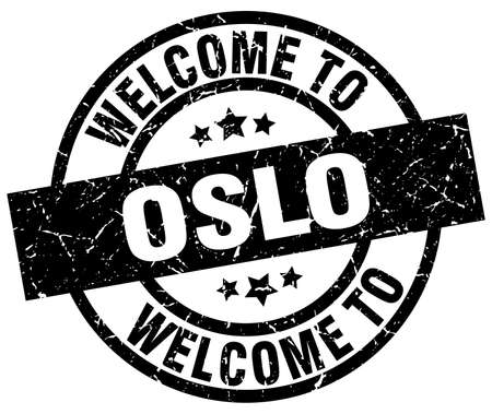 A welcome to Oslo black stamp.