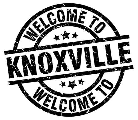 A welcome to Knoxville black stamp.