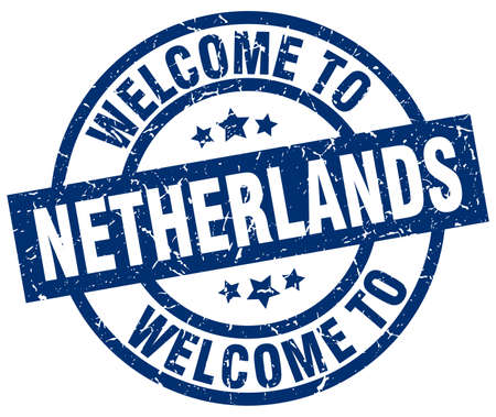 A welcome to Netherlands blue stamp.