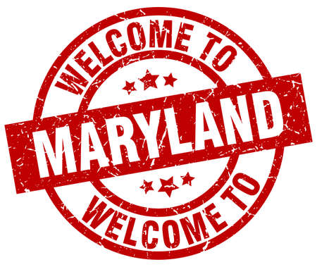 A welcome to Maryland red stamp.