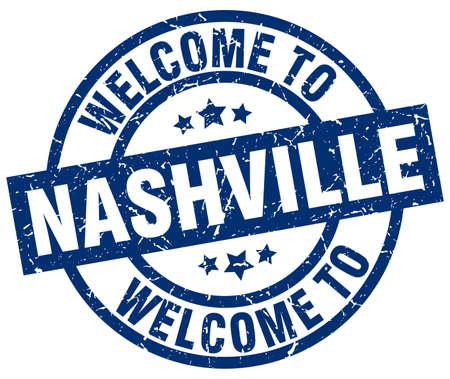 A welcome to Nashville blue stamp.