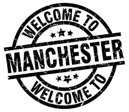 welcome to Manchester black stamp