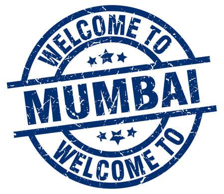 welcome to Mumbai blue stamp