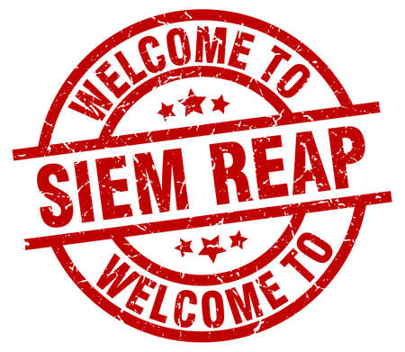 welcome to Siem Reap red stamp Иллюстрация