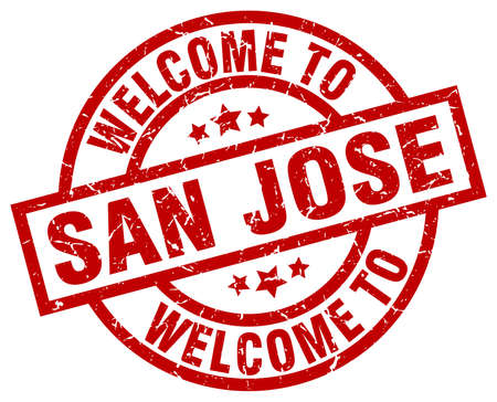 jose: welcome to San Jose red stamp