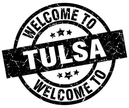 welcome to Tulsa black stamp